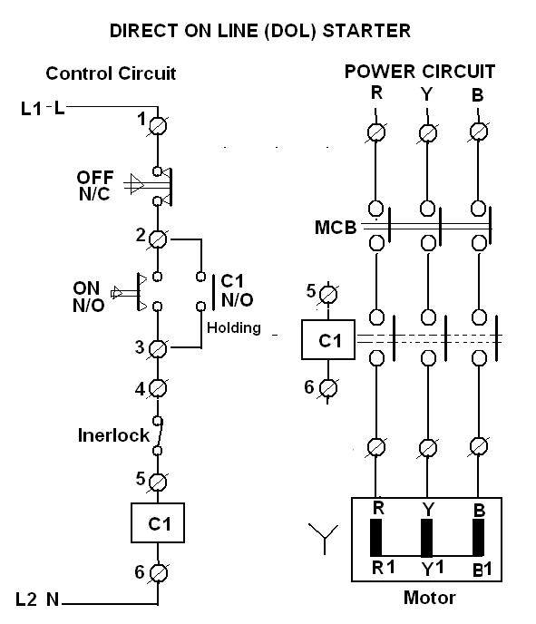 Control wiring diagram for dol starter cute dol starter control circuit diagram photos electrical asfbconference2016 Choice Image