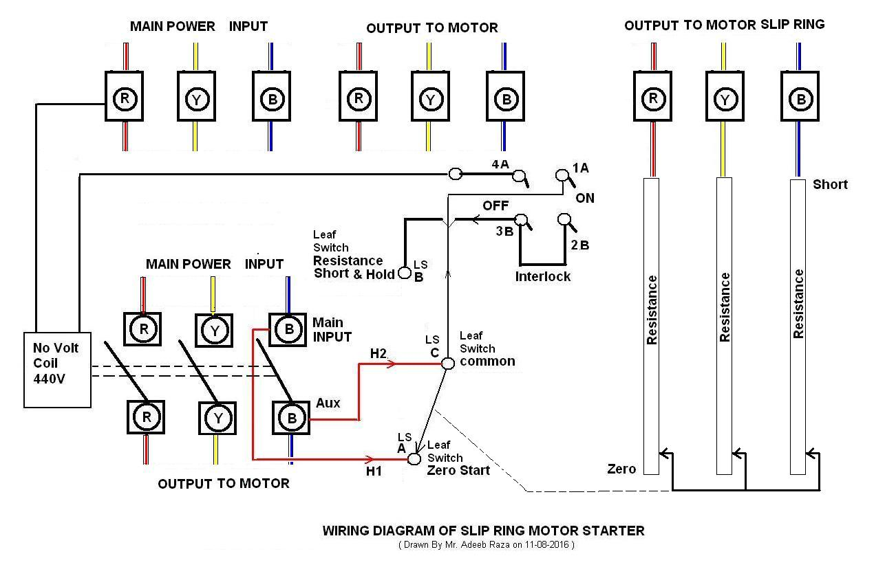 Slip Ring Motor Starter Wiring Diagram Will Be A For 3 Phase Adeeb S Space Rh Adeebraza1236 Wordpress Com Schematic Control